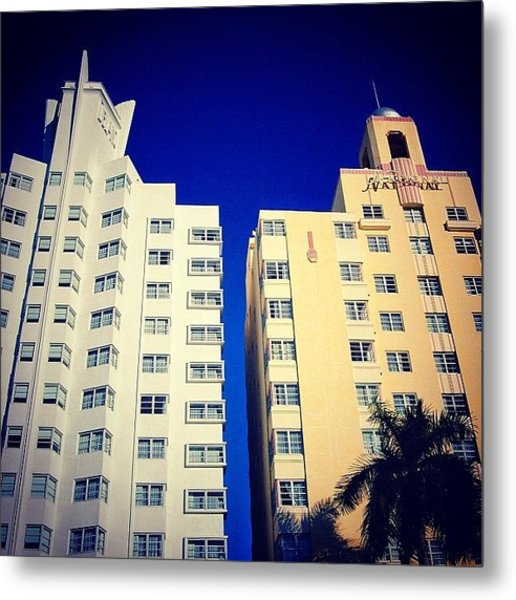 Delano And National Hotel's - Miami ( Metal Print
