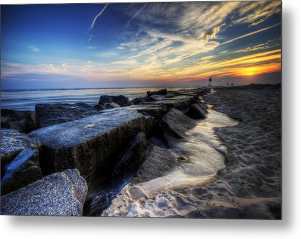 Delaware Sunrise At Indian River Inlet Metal Print