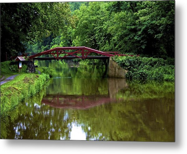Delaware's Crossing Metal Print by Kathi Isserman
