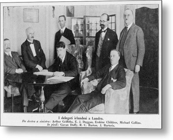 Delegation In London Including  Arthur Metal Print by Mary Evans Picture Library