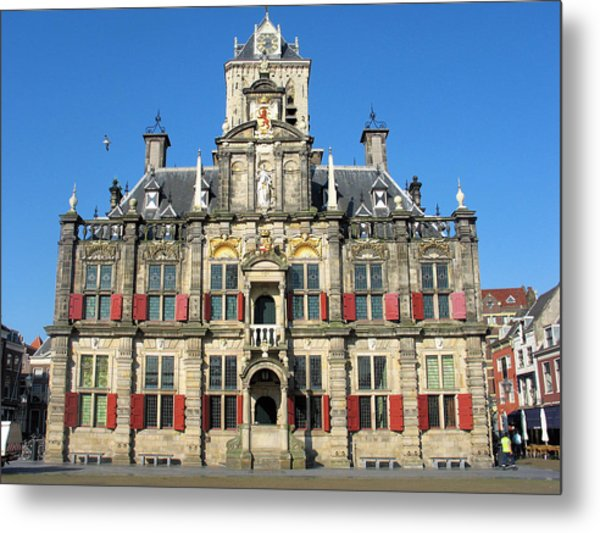 Delft City Hall Metal Print