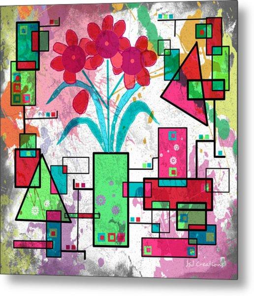 Delicately Floral Metal Print by Jan Steadman-Jackson