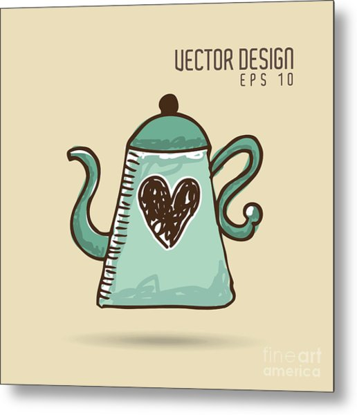 Delicious Coffee Design Metal Print by Gst