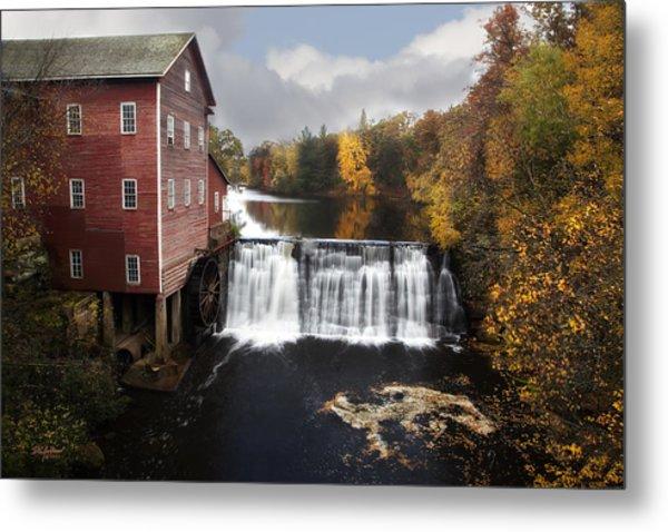 Dells Mill Fall Color Metal Print