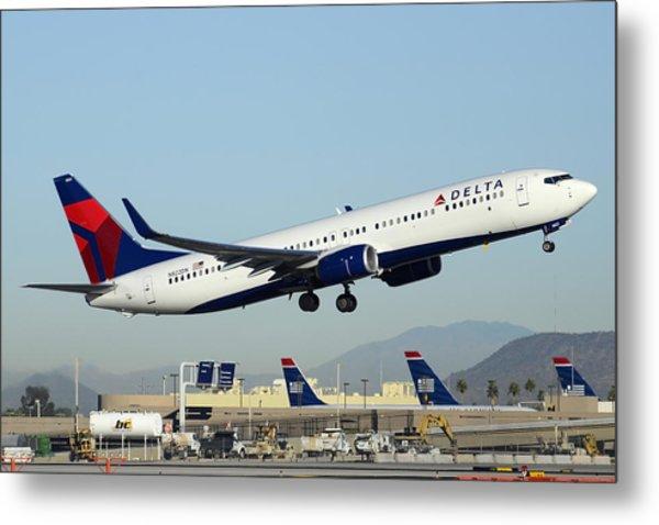 Delta Boeing 737-932 N822dn Phoenix Sky Harbor December 24 2014  Metal Print