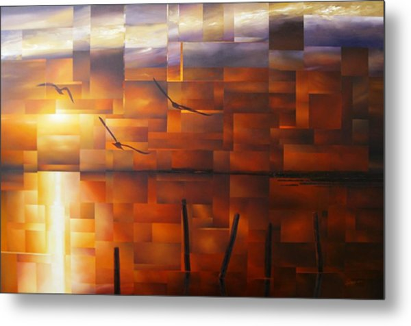 Delta Sunset Metal Print by Laurend Doumba