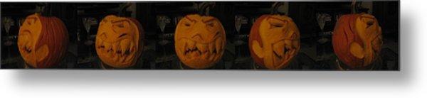 Demented Mister Ullman Pumpkin 3 Metal Print