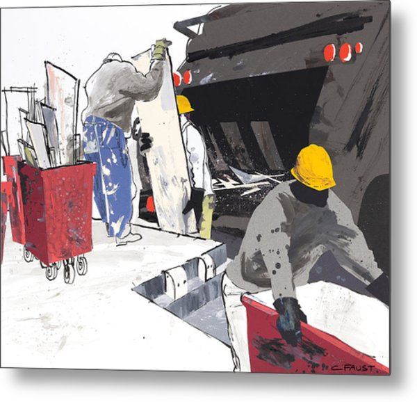 Demolition Crew Metal Print
