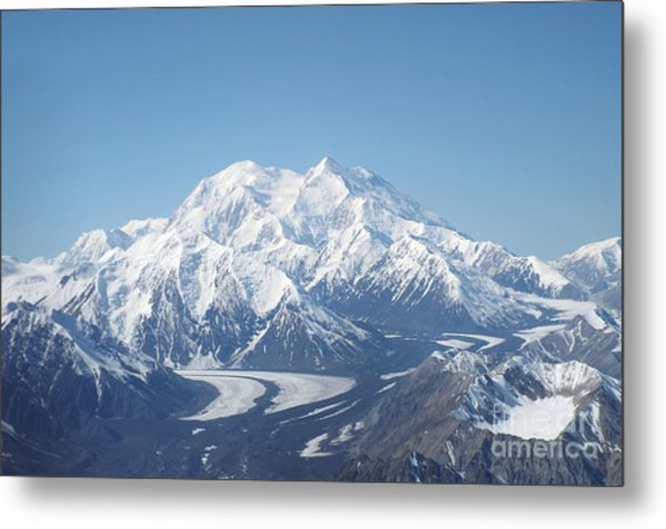 Denali From The Air Metal Print