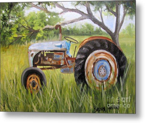 Dena's Blue Tractor Metal Print
