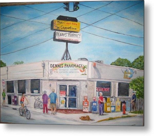 Dennis Pharmacy - No More Refills Metal Print