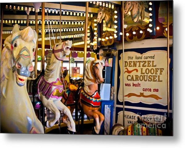 Dentzel Looff Antique Carousel  Metal Print