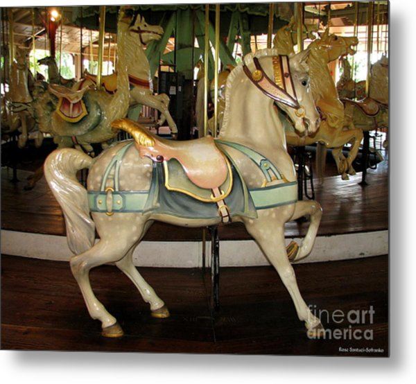 Metal Print featuring the photograph Dentzel Menagerie Carousel Horse by Rose Santuci-Sofranko