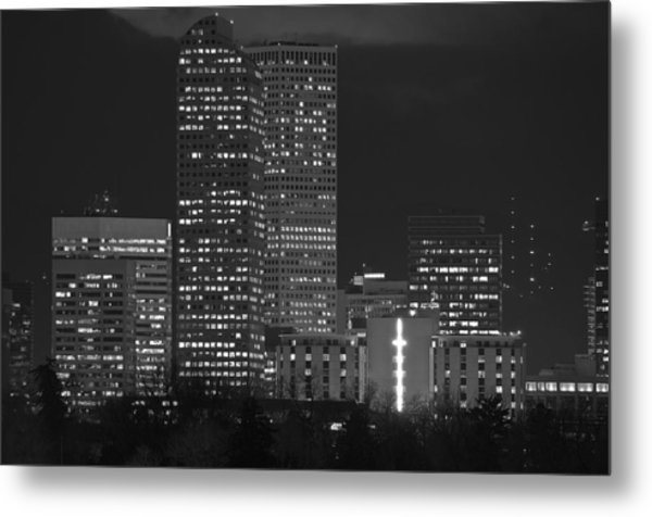 Denver Downtown  Metal Print by Eric Rundle