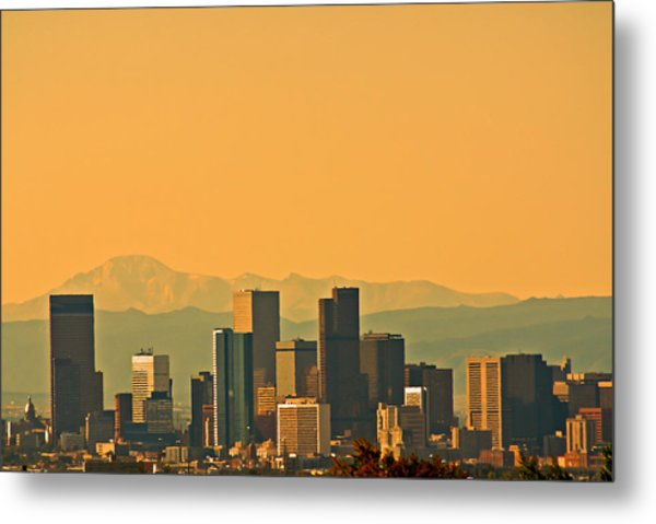 Denver Skyline Metal Print