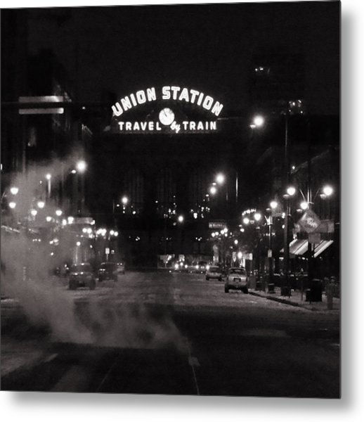 Denver Union Station Square Image Metal Print