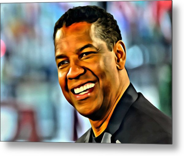 Denzel Washington Metal Print