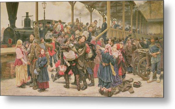 Departing For The War, 1888 Metal Print
