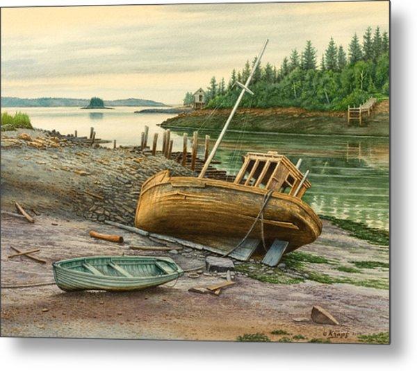 Derelict Boat Metal Print