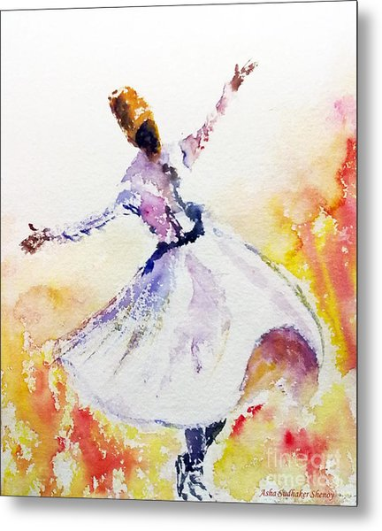 Sufi  Or Dervish Dancer Metal Print