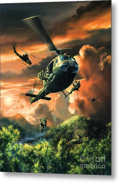 Descent Into The A Shau Valley Metal Print