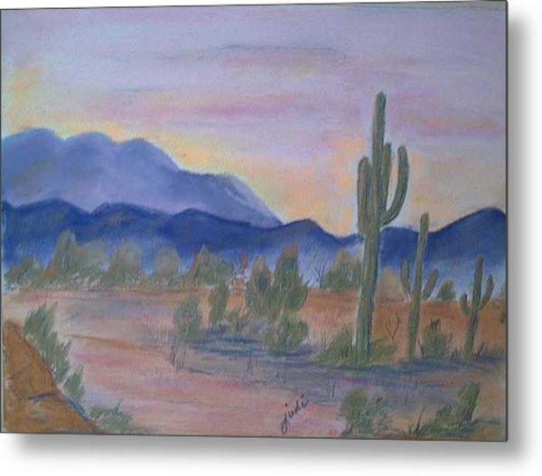Desert Aglow Metal Print by Judi Pence
