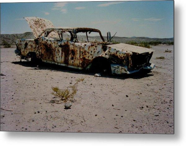 Desert Car Metal Print