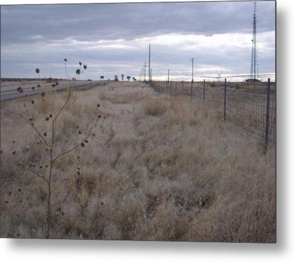 Desert Highway Metal Print by Angela Stout