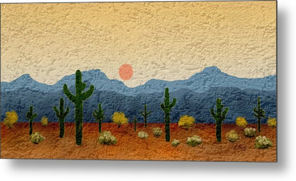Desert Impressions Metal Print