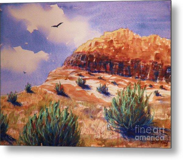 Desert Mesa Metal Print