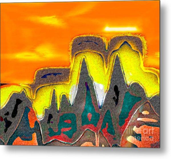 Desert Mountain Abstract Metal Print