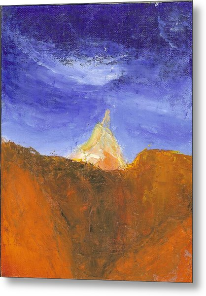 Desert Mountain Canyon Metal Print
