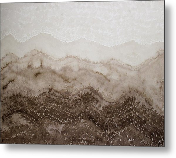 Desert Mountain Mist Original Painting Metal Print