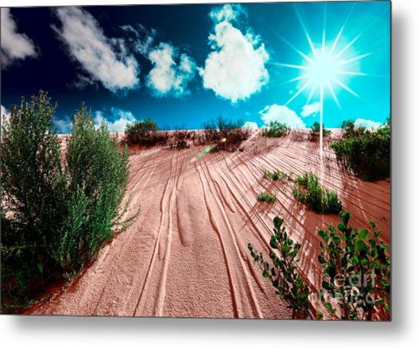 Desert Rays Metal Print