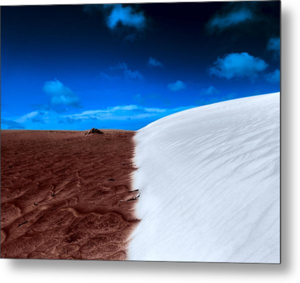 Metal Print featuring the photograph Desert Sand And Sky by Julian Cook