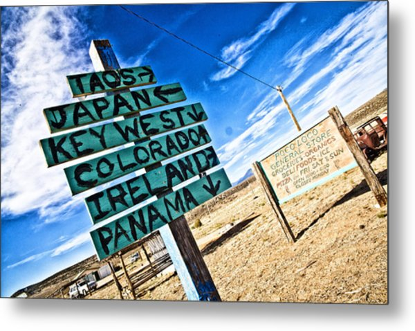 Desert Signs Metal Print