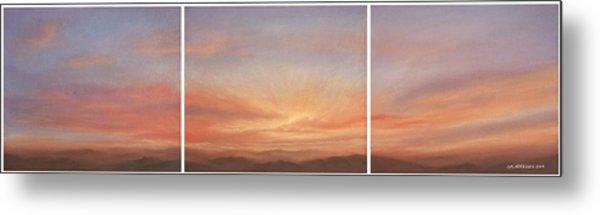 Desert Sky Triptych Metal Print