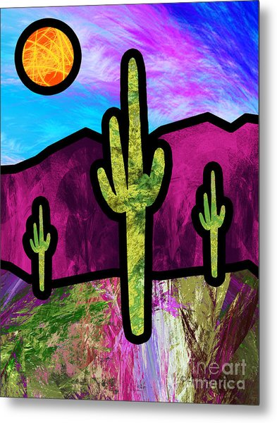 Desert Stained Glass Metal Print