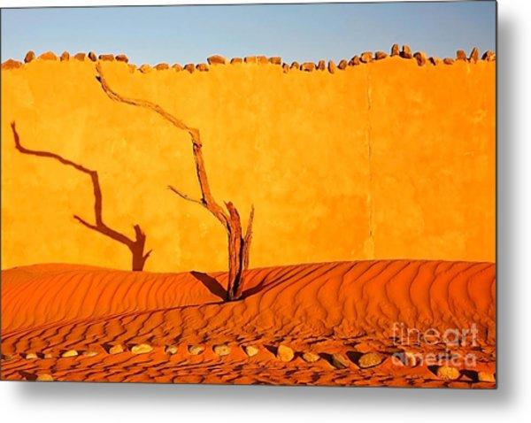 Namibia Desert Still Life Metal Print