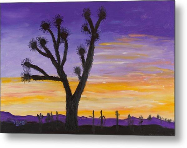 Desert Sunset Metal Print by Margaret Pappas