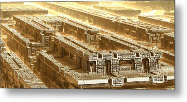 Desert Temple Metal Print by Bernard MICHEL