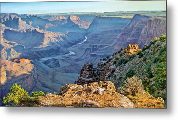 Desert View-morning Metal Print