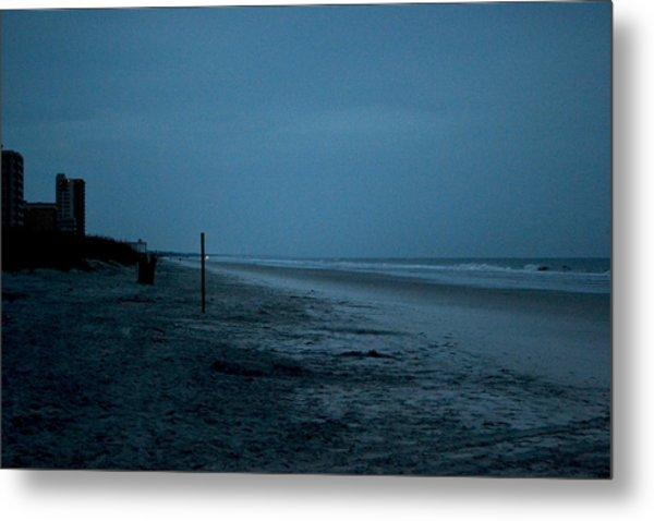 Deserted Beach Metal Print by Victoria Clark