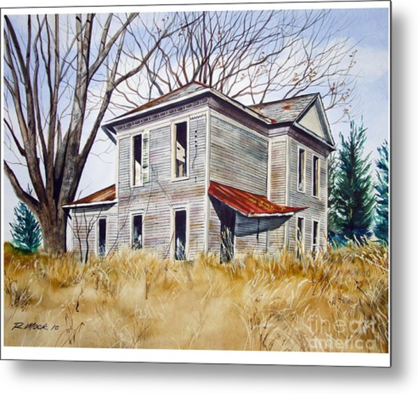 Deserted House  Metal Print by Rick Mock