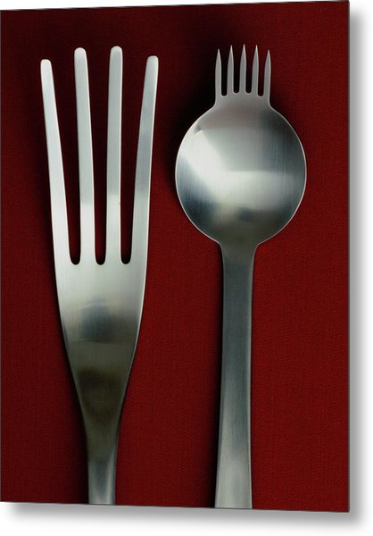 Designer Cutlery Metal Print