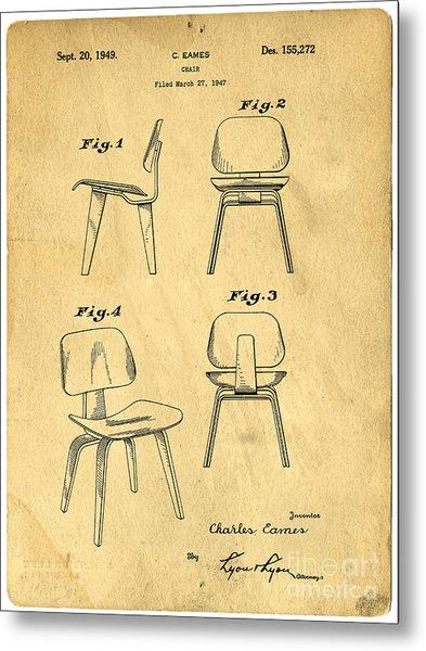 Designs For A Eames Chair Metal Print