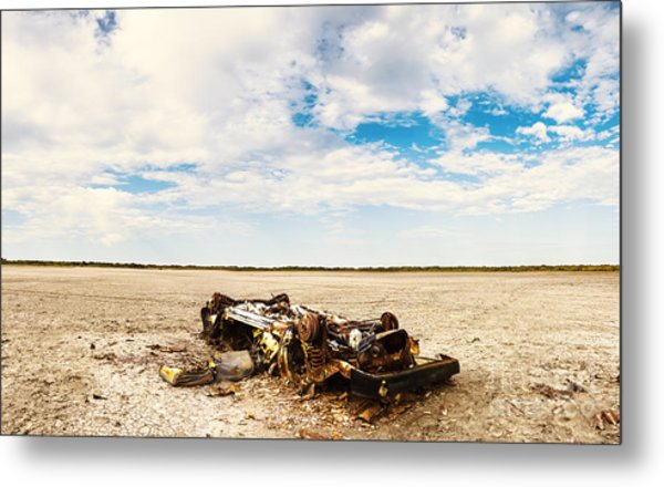 Desolate Desert Wasteland. Deception Bay Metal Print