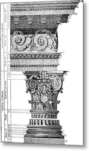 Detail Of A Corinthian Column And Frieze I Metal Print