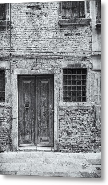Detail Of Old Facade In Venice Metal Print by Francesco Rizzato