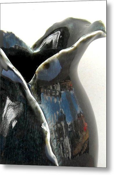 Detail Of Porcelain Petal Vase 1  Metal Print